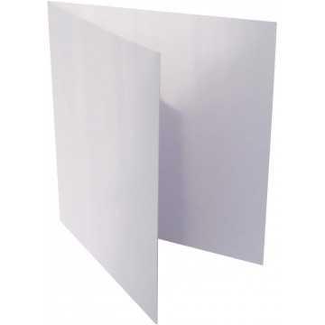1-Quadratische Klappkarte zum selbst Beschriften in Weiß von der Größe 12,5 x 12,5 mm 125 x 125 cm Grammatur: 300 g/m²