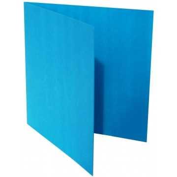 1-Quadratische Klappkarte zum selbst Beschriften in Ozean Blau von der Größe 12,5 x 12,5 mm 125 x 125 cm Grammatur: 300 g/m²
