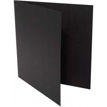 1-Quadratische Klappkarte zum selbst Beschriften in Schwarz von der Größe 12,5 x 12,5 mm 125 x 125 cm Grammatur: 300 g/m²