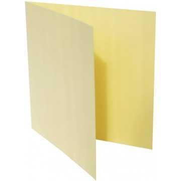 1-Quadratische Klappkarte zum selbst Beschriften in Hell Gelb von der Größe 130 x 130 mm 13 x 13 cm Grammatur: 300 g/m²