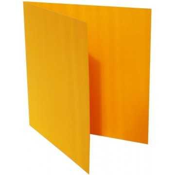 1-Quadratische Klappkarte zum selbst Beschriften in Orange von der Größe 130 x 130 mm 13 x 13 cm Grammatur: 300 g/m²