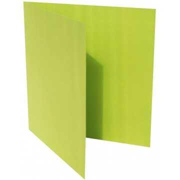 1-Quadratische Klappkarte zum selbst Beschriften in Hell Grün von der Größe 130 x 130 mm 13 x 13 cm Grammatur: 300 g/m²